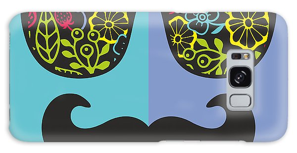 Reflections Galaxy Case - Abstract Face Of Man In Glasses. Vector by Eka Panova