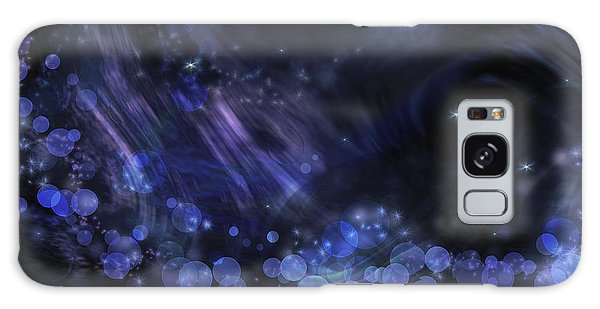 Abstract Fantasy In Black And Blue Galaxy Case