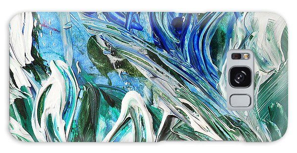 Country Living Galaxy Case - Abstract Floral Sky Reflection by Irina Sztukowski