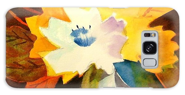 Abstract Flowers 2 Galaxy Case by Marilyn Jacobson