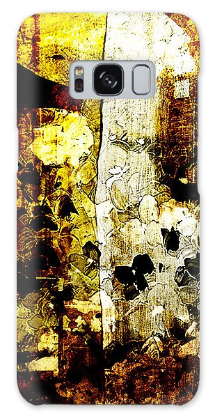 Abstract Flowers Galaxy Case by Andrea Barbieri