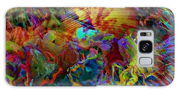 Abstract Fronds In Jewel Tones - Square Galaxy Case
