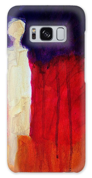 Abstract People Galaxy Case - Abstract Ghost Figure No. 1 by Nancy Merkle