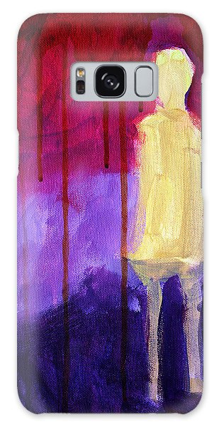 Abstract People Galaxy Case - Abstract Ghost Figure No. 3 by Nancy Merkle