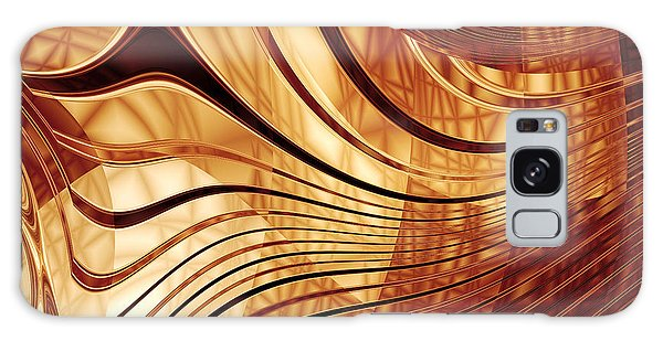 Abstract Gold 2 Galaxy Case