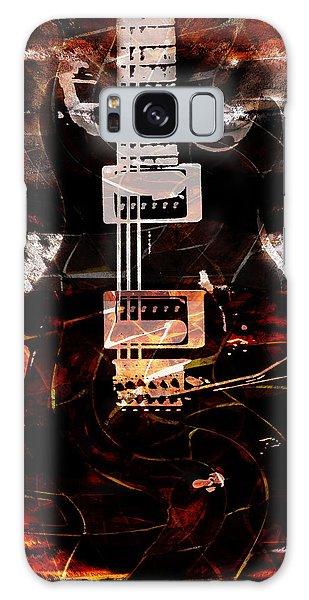 Abstract Guitar Into Metal Galaxy Case