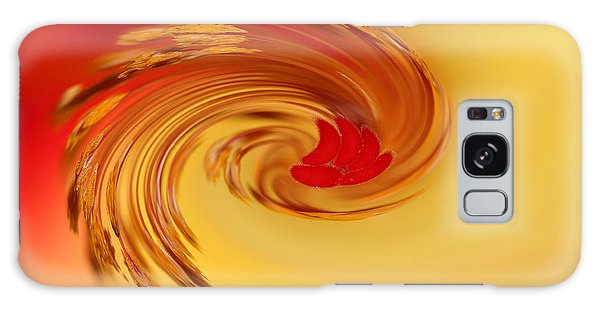 Abstract Swirl Hibiscus Flower Galaxy Case by Debbie Oppermann
