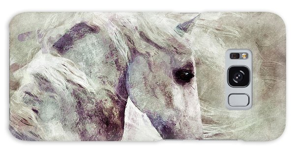 Abstract Horse Portrait Galaxy Case