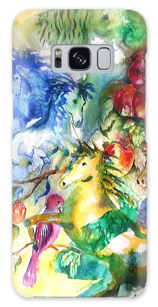 Abstract Horses Galaxy Case
