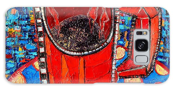 Abstract Hot Coffee In Red Mug Galaxy Case