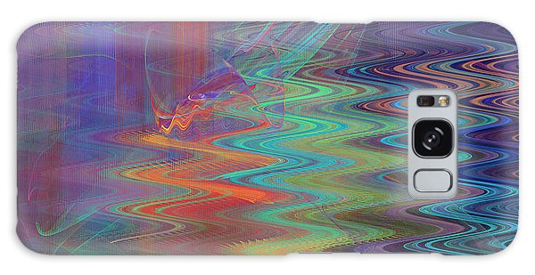 Abstract In Blue And Purple Galaxy Case by Jane McIlroy