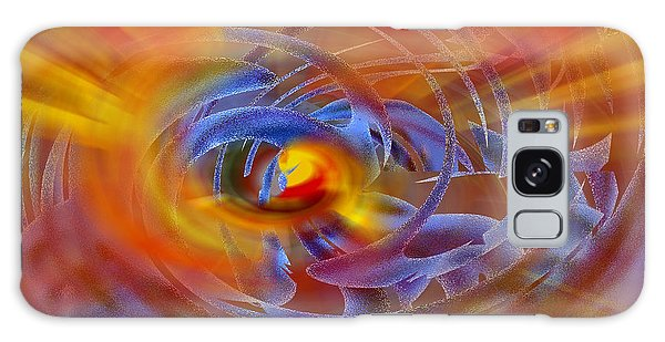 Abstract In Fire And Blue Galaxy Case by rd Erickson