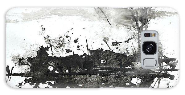 Modern Abstract Black Ink Art Galaxy Case