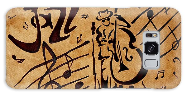 Abstract Jazz Music Coffee Painting Galaxy Case