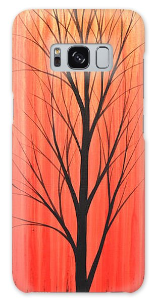 Abstract Landscape Original Trees Art Print Painting ... Twilight Trees #1 Galaxy Case by Amy Giacomelli
