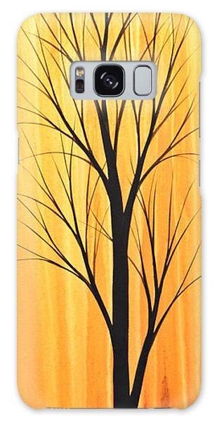 Abstract Landscape Original Trees Art Print Painting ... Twilight Trees #2 Galaxy Case by Amy Giacomelli