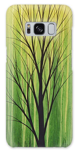 Abstract Landscape Original Trees Art Print Painting ... Twilight Trees #3 Galaxy Case by Amy Giacomelli