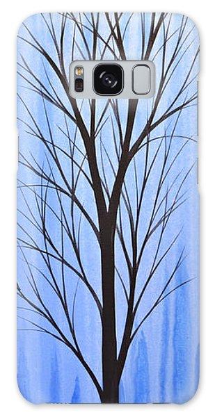 Abstract Landscape Original Trees Art Print Painting ... Twilight Trees #4 Galaxy Case