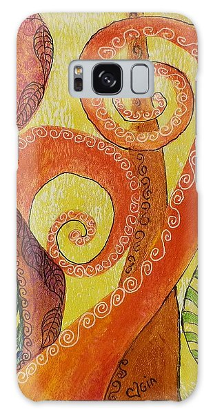 Abstract Leaves Galaxy Case