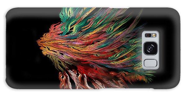 Abstract Lion's Head Galaxy Case by Klara Acel