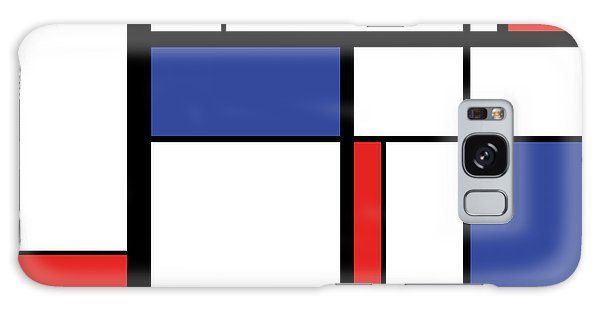 White Galaxy Case - Abstract Modern Painting In Mondrian by Lars Poyansky
