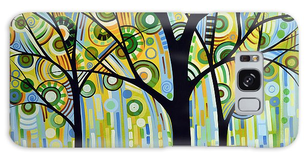 Abstract Modern Tree Landscape Spring Rain By Amy Giacomelli Galaxy Case