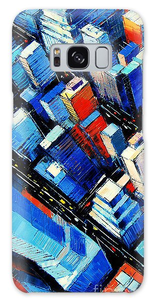 Abstract New York Sky View Galaxy Case by Mona Edulesco