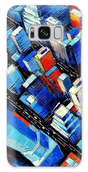 Office Galaxy Case - Abstract New York Sky View by Mona Edulesco