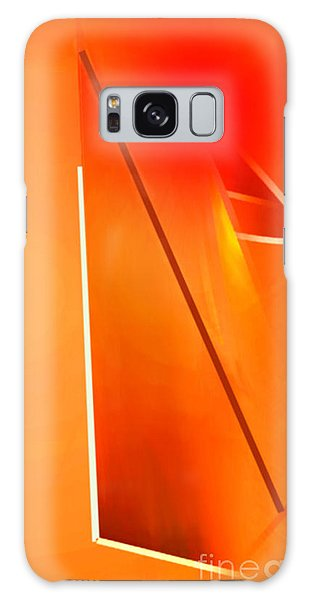Abstract Orange Galaxy Case
