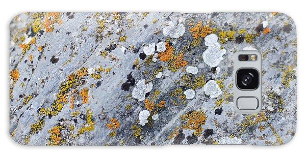 Abstract Orange Lichen 2 Galaxy Case