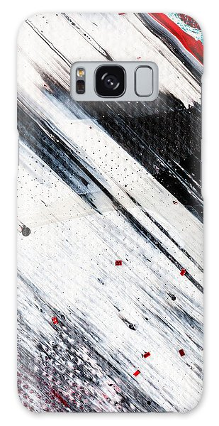 Galaxy Case featuring the painting Abstract Original Artwork One Hundred Phoenixes Untitled Number Eight by Maria Lankina