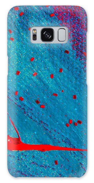 Galaxy Case featuring the painting Abstract Original Artwork One Hundred Phoenixes Untitled Number Eleven by Maria Lankina