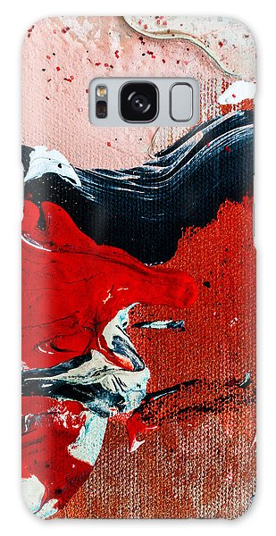 Galaxy Case featuring the painting Abstract Original Artwork One Hundred Phoenixes Untitled Number Four by Maria Lankina