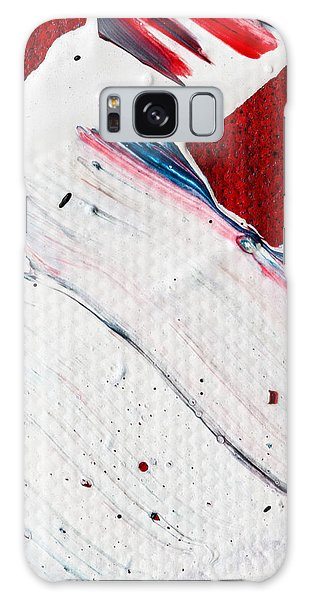 Galaxy Case featuring the painting Abstract Original Artwork One Hundred Phoenixes Untitled Number Nine by Maria Lankina