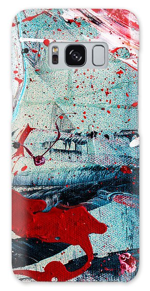 Galaxy Case featuring the painting Abstract Original Artwork One Hundred Phoenixes Untitled Number Six by Maria Lankina