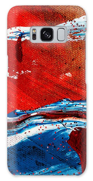 Galaxy Case featuring the painting Abstract Original Artwork One Hundred Phoenixes Untitled Number Three by Maria Lankina