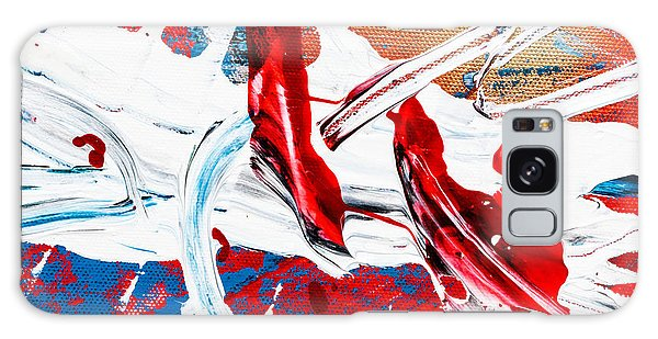 Galaxy Case featuring the painting Abstract Original Artwork One Hundred Phoenixes Untitled Number Two by Maria Lankina