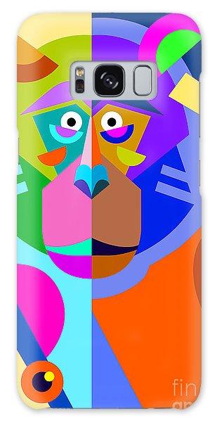 Front Galaxy Case - Abstract Original Monkey Drawing In by Karakotsya