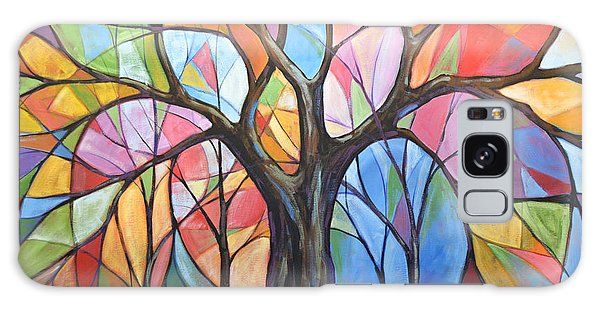 Abstract Original Tree Art Painting ... Colors Of The Wind Galaxy Case by Amy Giacomelli