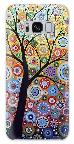 Abstract Original Tree Art Painting ... Sun Arising Galaxy Case