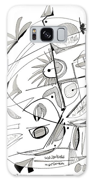 Abstract Pen Drawing Sixty-seven Galaxy Case