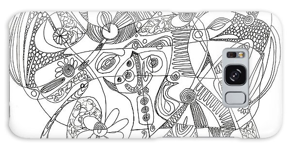 Abstract Pen Drawing Thirty-eight Galaxy Case