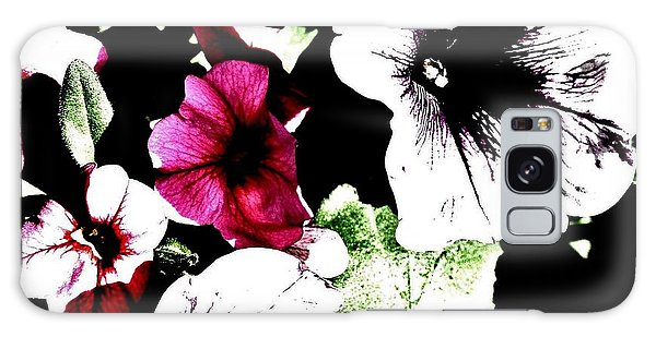 Abstract Petunias Galaxy Case by Marsha Heiken