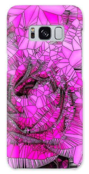 Abstract Pink Rose Mosaic Galaxy Case
