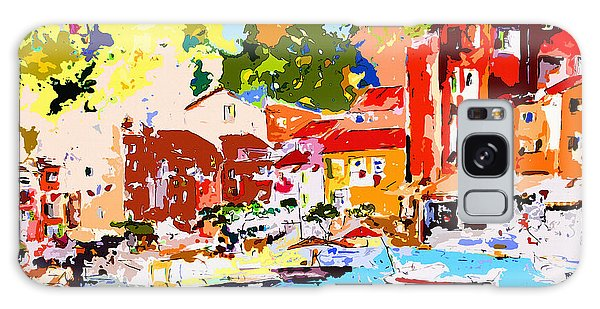 Abstract Portofino Italy Decorative Art Galaxy Case
