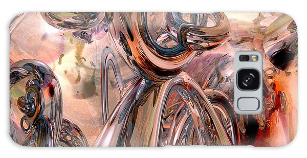 Abstract Reflecting Rings Galaxy Case by Phil Perkins