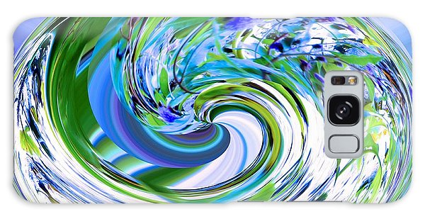 Abstract Reflections Digital Art #3 Galaxy Case by Robyn King
