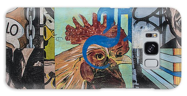 Abstract Rooster Panel Galaxy Case by Terry Rowe