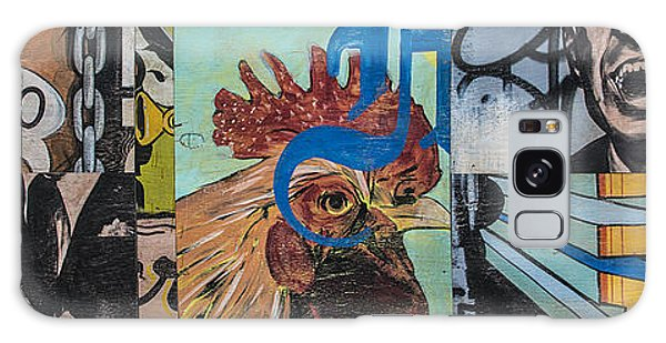 Abstract Rooster Panel Galaxy Case
