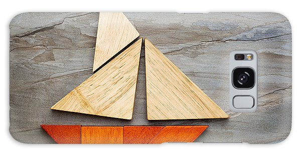 Abstract Sailboat From Tangram Puzzle Galaxy Case